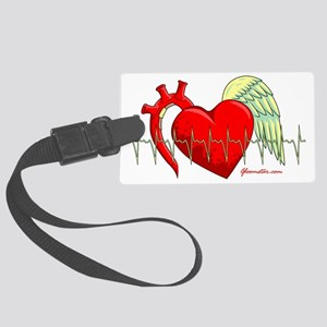 Heart Surgery Survivor Large Luggage Tag