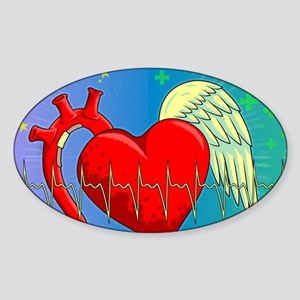Heart Surgery Survivor Full Sticker (Oval)