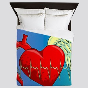 Heart Surgery Survivor Full Queen Duvet