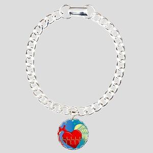Heart Surgery Survivor F Charm Bracelet, One Charm