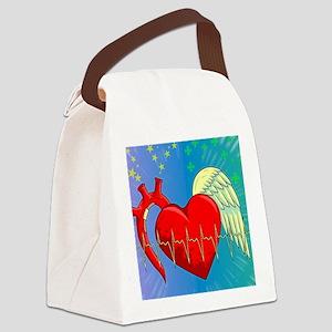 Heart Surgery Survivor Full Canvas Lunch Bag