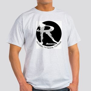 iRecover - Clean. Serene. Proud Light T-Shirt