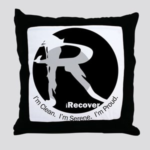 iRecover - Clean. Serene. Proud Throw Pillow