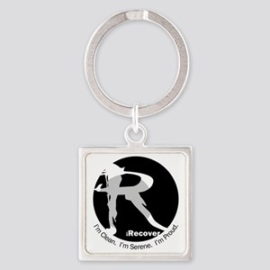 iRecover - Clean. Serene. Proud Square Keychain