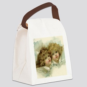 Vintage Victorian Christmas Angel Canvas Lunch Bag