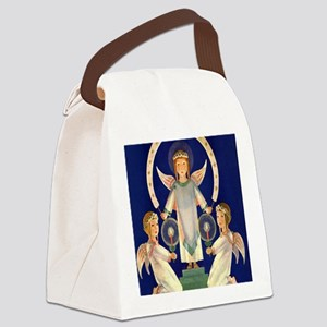 Vintage Christmas, Scandinavian S Canvas Lunch Bag