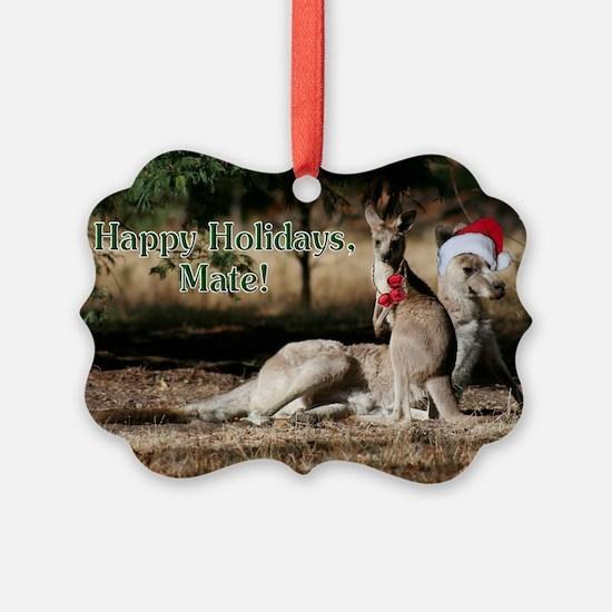 Aussie Happy Holidays Mate Kangar Ornament