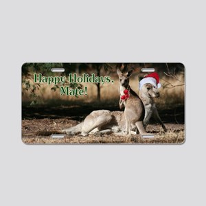 Aussie Happy Holidays Mate  Aluminum License Plate