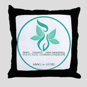1in10 Logo Throw Pillow
