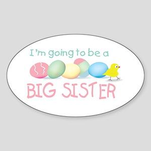 big sister easter Oval Sticker