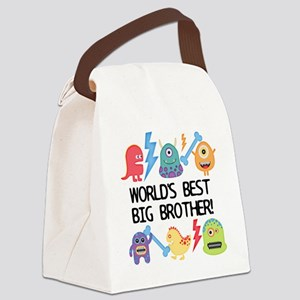 Monsters World's Best Big Brother Canvas Lunch Bag