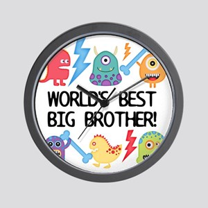 Monsters World's Best Big Brother Wall Clock