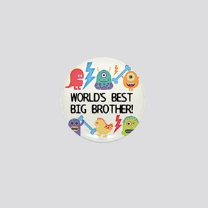 Monsters World's Best Big Brother Mini Button