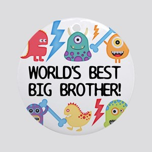 Monsters World's Best Big Brother Round Ornament