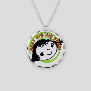 Retro Best Big Sister Necklace Circle Charm