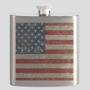 USA Patriotic Flask