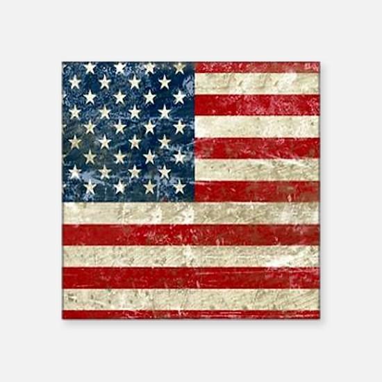 "USA Patriotic Square Sticker 3"" x 3"""
