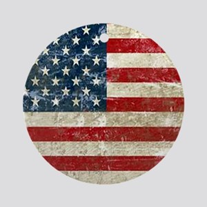 USA Patriotic Round Ornament