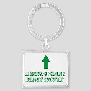 Lagomorph Produce Delivery Assi Landscape Keychain
