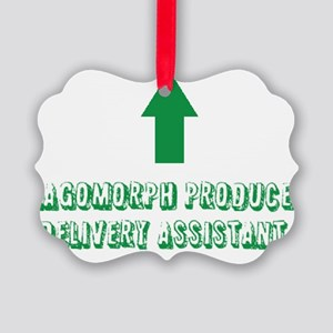 Lagomorph Produce Delivery Assist Picture Ornament