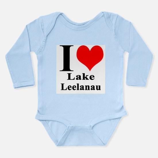 I heart Lake Leelanau Body Suit