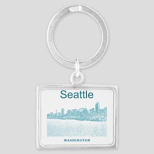 Seattle_12X12_SeattleWaterfront Landscape Keychain