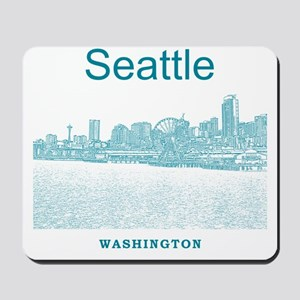 Seattle_12X12_SeattleWaterfront_Blue Mousepad