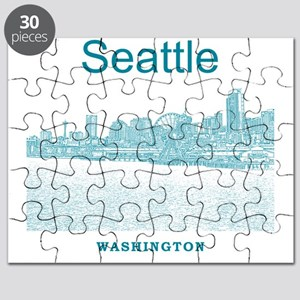 Seattle_12X12_SeattleWaterfront_Blue Puzzle