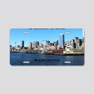 Seattle_11x9_SeattleWaterfr Aluminum License Plate