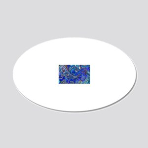 Extra Wild Paisley 20x12 Oval Wall Decal