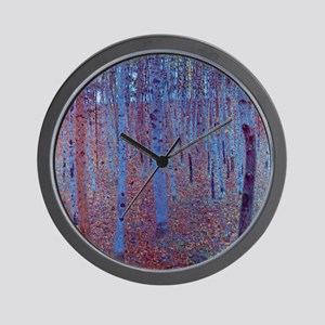 Beech Forest by Gustav Klimt, Vintage A Wall Clock