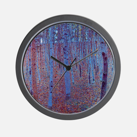Beech Forest by Gustav Klimt, Vintage A Wall Clock