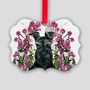 Black Schnauzer Picture Ornament