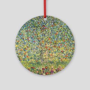 Apple Tree by Gustav Klimt, Vintage Round Ornament