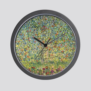 Apple Tree by Gustav Klimt, Vintage Art Wall Clock
