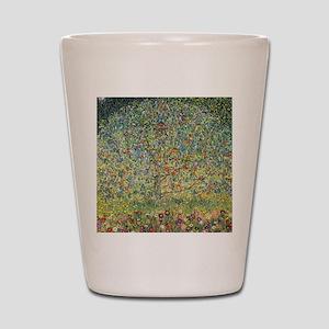 Apple Tree by Gustav Klimt, Vintage Art Shot Glass