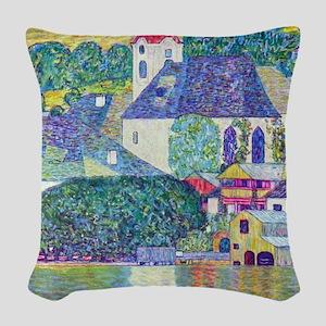 Gustav Klimt, St. Wolfgang Chu Woven Throw Pillow
