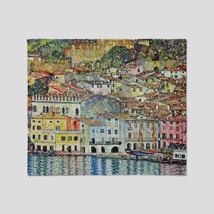 Gustav Klimt, Malcesine on Lake Gard Throw Blanket