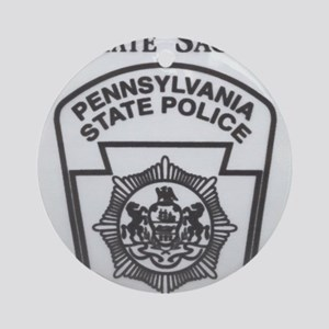 Helping Pennsylvania State Police Round Ornament
