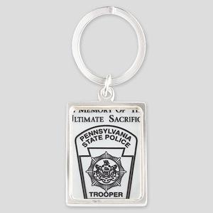 Helping Pennsylvania State Polic Portrait Keychain