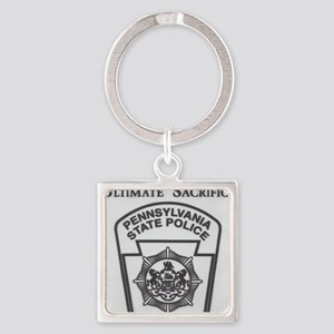 Helping Pennsylvania State Police Square Keychain
