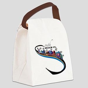 south beach Canvas Lunch Bag
