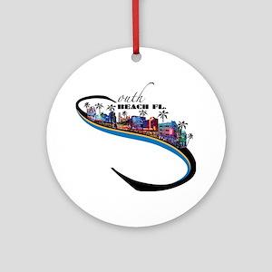 south beach Round Ornament