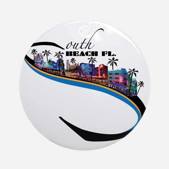 south beach Round Ornament