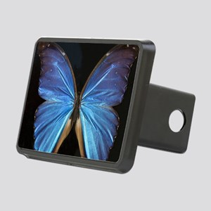 Elegant Blue Butterfly Rectangular Hitch Cover