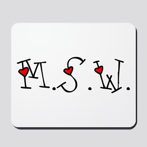MSW Hearts Mousepad