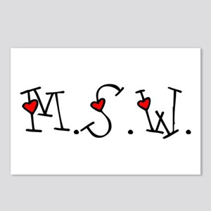 MSW Hearts Postcards (Package of 8)