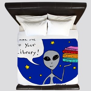 Take Me To Your Library King Duvet