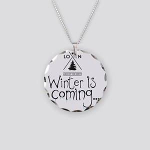 new_winteriscoming Necklace Circle Charm
