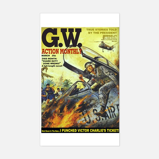 G.W. Action Monthly Magazine Decal